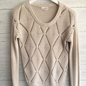 Tan Medium Sweater Shrinking Violet